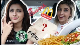 Letting The Person In Front of Us Decide What We Eat  | Drive Thru Challenge
