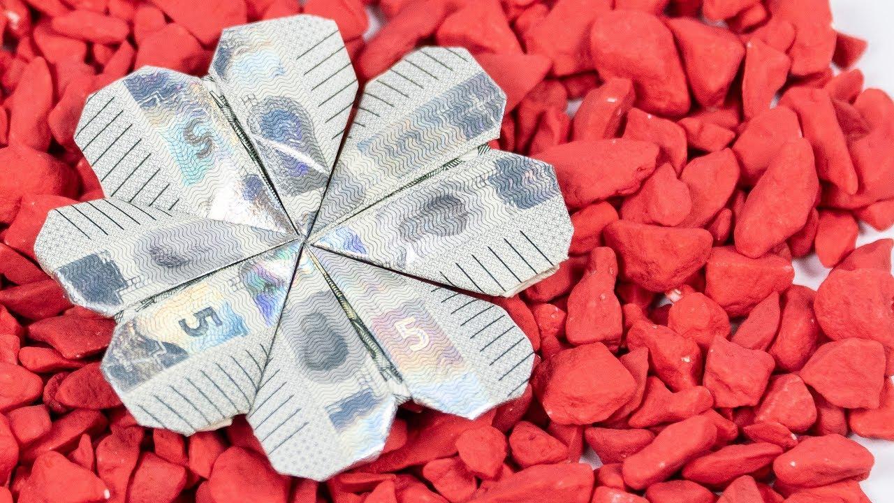 Geldschein falten ud83c udf40 Kleeblatt aus Geld falten YouTube