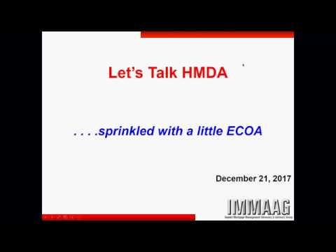 Let's Talk HMDA Webinar