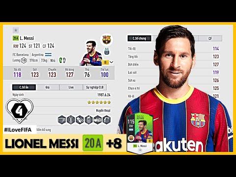 """Trải Nghiệm Cầu Thủ Chỉ Số OVR Cao Nhất Mùa 20A """" Lionel Messi """" 20A +8 & Siêu ĐH 500 Tỷ Cực Khủng"""