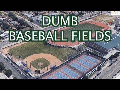 Weird High School Baseball Fields, a breakdown with FivePoints Vids
