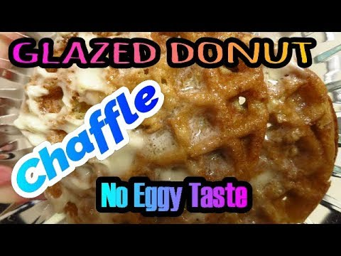 glazed-donut-chaffle-with-glaze-frosting-not-eggy!-made-with-almond-flour