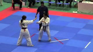 全日本女子(19名)2回戦 795島田慧巳VS796榊洋子 http://kyokushin-shiga...