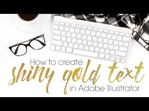 How To Create Shiny Gold Text In Adobe Illustrator