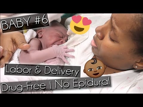 Emotional, Drug-free Labor and Delivery   (No epidural, unmedicated, raw live birth vlog)   Baby #6