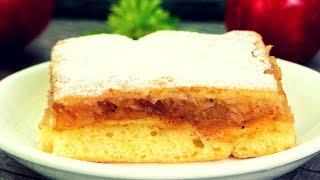 Съели половину пирога сразу! Заливной пирог с яблоками – вкусный и простой рецепт! | Appetitno.TV