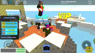 Roblox Skywars but with a god dam hacker in it