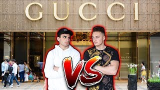 LOSER BUYS WINNER GUCCI (CHALLENGE)
