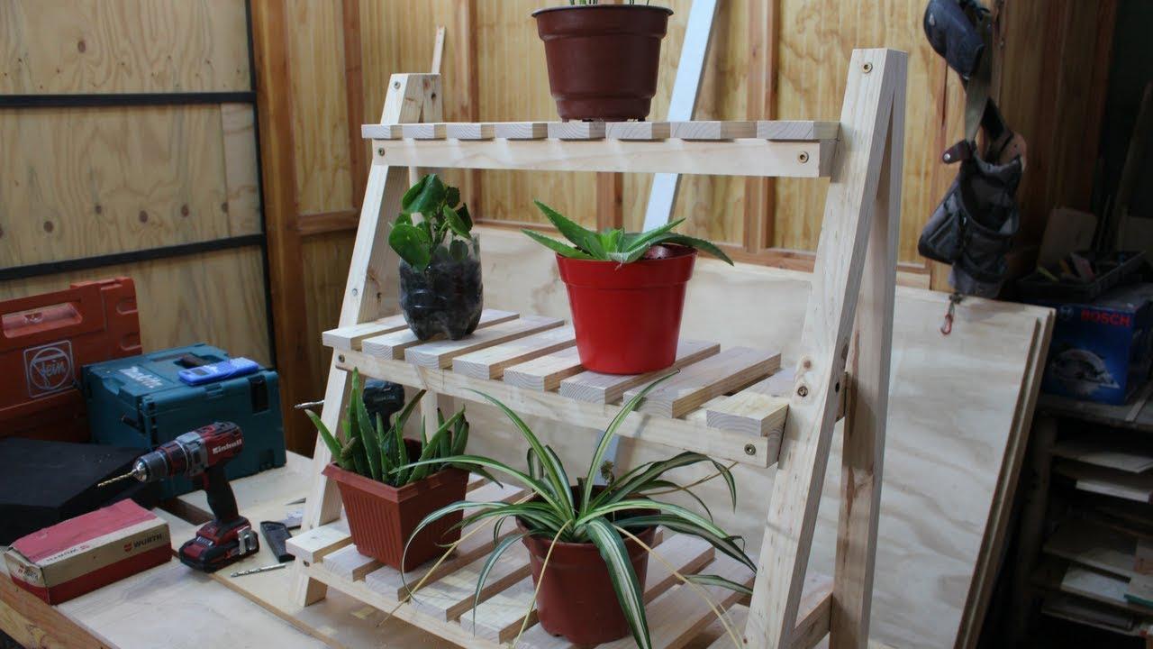 Repisa para plantas youtube for Muebles para plantas