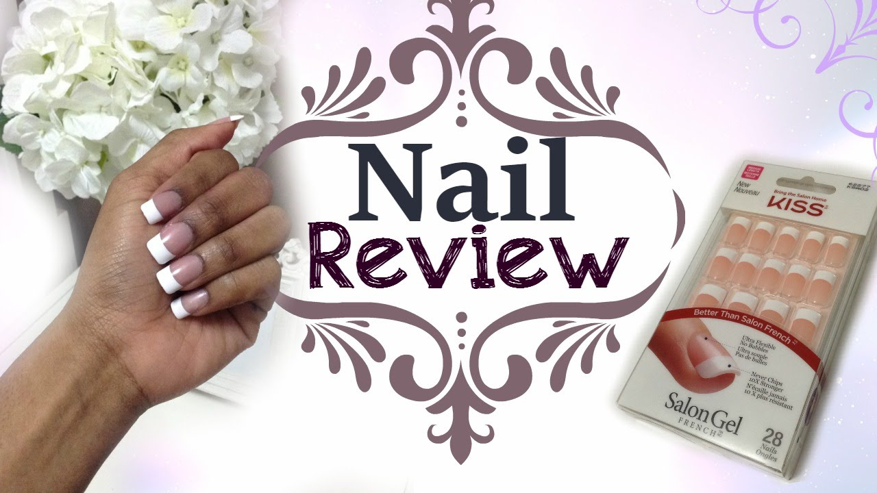 KISS Salon Gel French Nails Review - YouTube
