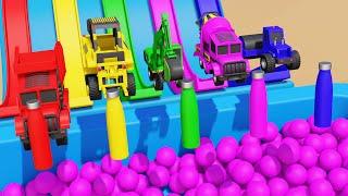 Monster Street vehicles Toys for Kids Learning Videos For Kids Toddler & Children 3D Video
