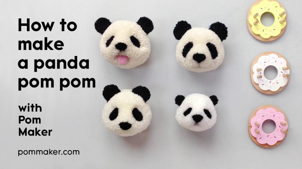 How to Make a Panda Pompom - Pom Maker Tutorial - YouTube