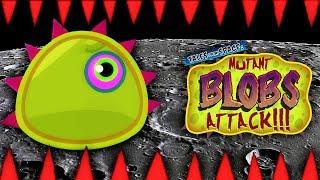 ХИЩНЫЙ СЛИЗЕНЬ против ОПАСНОЙ ЛУНЫ Мульт игра для детей про СЛИЗНЯ ОБЖОРУ Mutant Blobs Attack