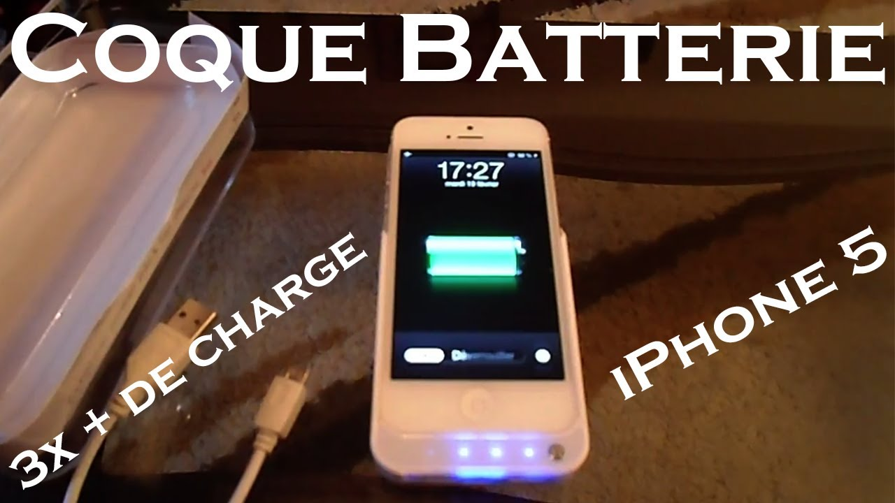 batterie externe coque iphone 5