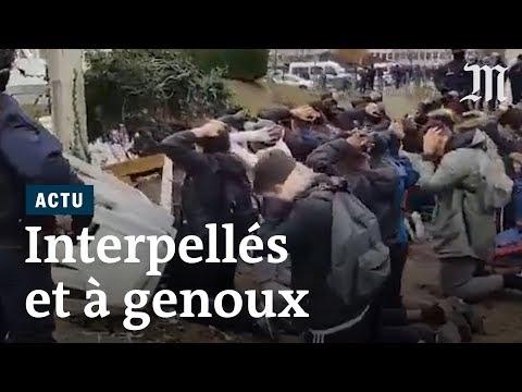 Images choquantes de lycéens interpellés par la police
