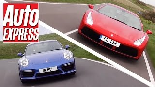 Ferrari 488 GTB vs Porsche 911 Turbo S: turbo supercars fight it out