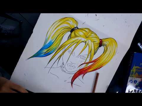 Work in Progress: Drawing Harley Quinn | Merve Senay