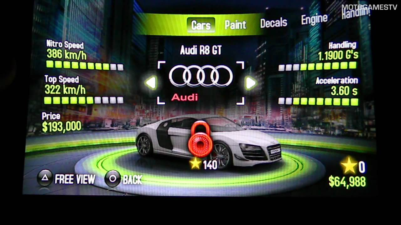 All Cars from Asphalt Injection (PS Vita) - YouTube