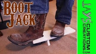 How To Make A Cowboy Boot Jack