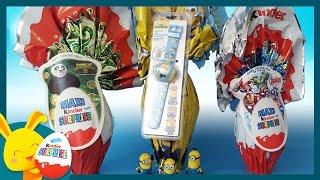 Maxi oeuf surprise Kinder - Avengers - Kung Fu Panda - Minions - Touni Toys