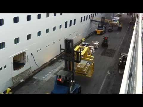 Giant Forklift loading the Golden Princess cruise ship