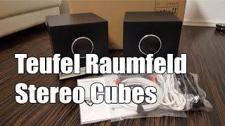 Raumfeld Stereo Cubes von Teufel Unboxing Test Einrichten