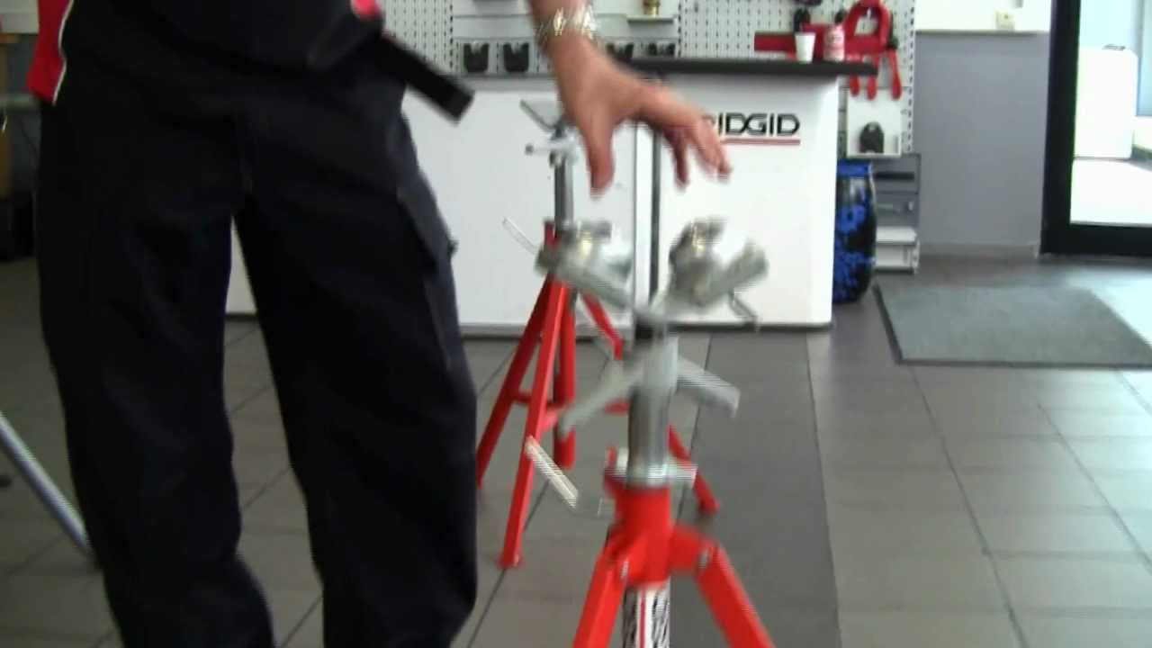 Ridgid Pipe Stands 1 8 In To 5 Model 560 Top Screw Vj 98 Stand 56657 Vf99
