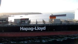 Hapag Lloyd Houston Express Container Ship Sailing Seattle