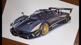 Drawing Pagani Zonda R
