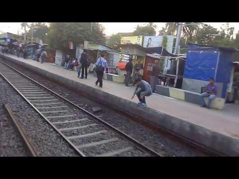 Indian Estern Railway Station In Kolkata Birati To Durga Nagar Local Train Railway Station