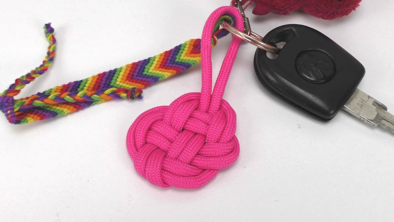 paracord herz schl sselanh nger selber machen knoten easy heart keychain diy anleitung. Black Bedroom Furniture Sets. Home Design Ideas