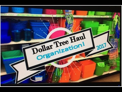 DOLLAR TREE ORGANIZATION HAUL! 2017