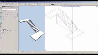 Создание лестницы с площадками в Allplan 2015