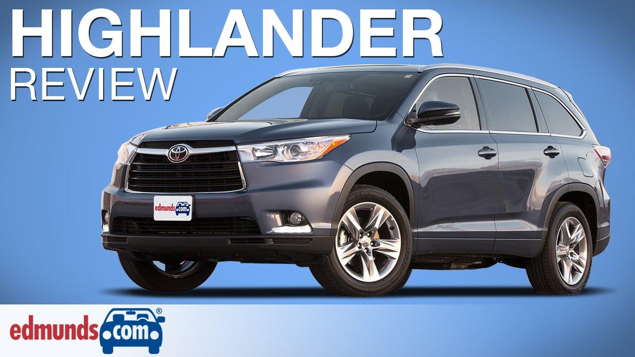 2017 Toyota Highlander Review Edmunds