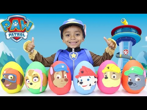 Thumbnail: Paw Patrol Play Doh Eggs LEARNING COLORS with Toy Surprises Mystery Toys