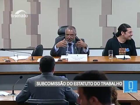CDHET - Estatuto do Trabalho - TV Senado ao vivo - 22/02/2018