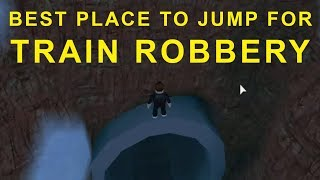 Perfect Spot For Jumping Train Robbery - JailBreak Roblox