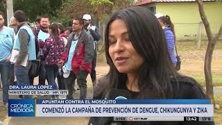 La Provincia sigue con operativos de prevención de dengue, zika y chikungunya