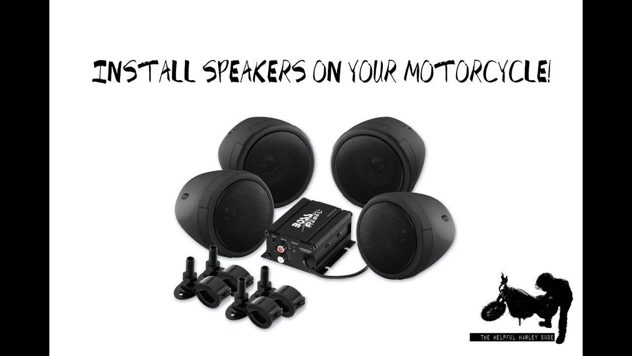 How to Install Boss Audio Bluetooth Speakers On Your Motorcycle!