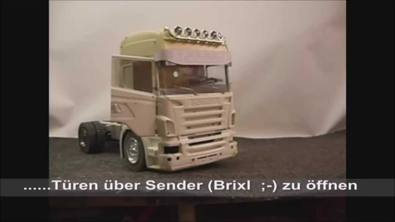 rc scania innenausstattung fahrerhaus usw youtube. Black Bedroom Furniture Sets. Home Design Ideas