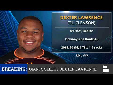 New York Giants Pick DT Dexter Lawrence From Clemson With Pick #17 In 1st Round of 2019 NFL Draft