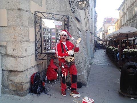 Crazy Дед Мороз) Львов пл.Рынок. Тест камеры THL T6s