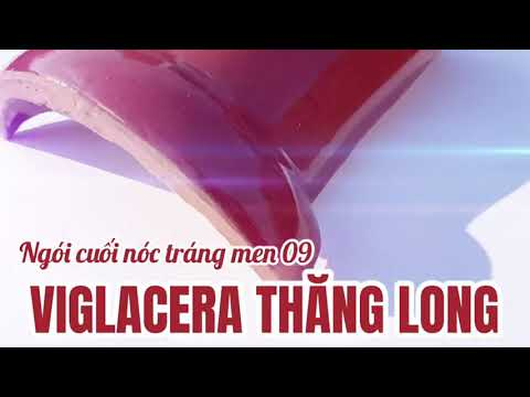 Ngói Cuối Nóc Màu 09 đỏ Tráng Men Viglacera Thăng Long | Cuối Nóc Tráng Men Màu đỏ 09 Viglacera
