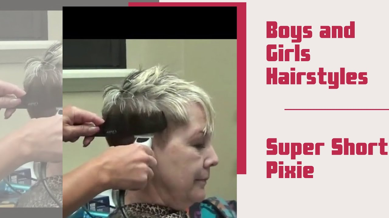 Pixie Haircut Older Women Short Hairstyles Youtube