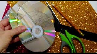 3 ИДЕИ поделок ИЗ ДИСКОВ CD и DVD своими руками.Подарки.идеи на день матери и учителя.декор дома.DiY