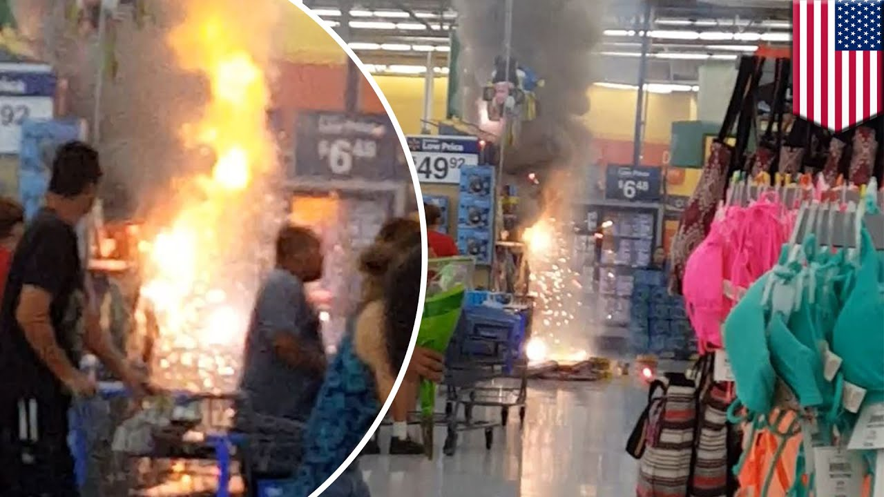 Walmart fireworks display catches fire in middle of store in ...