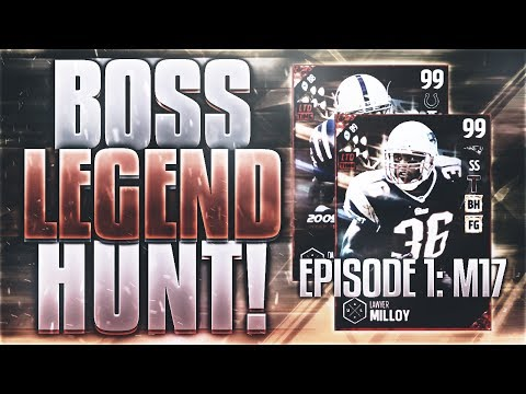 BOSS LEGEND HUNT - EPISODE 1!! 99 LAWYER MILLOY AND DALLAS CLARK IN PACKS!! | Madden 17