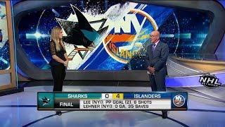 On the Fly: Lehner`s Isles debut: Robin Lehner notches shutout in perfect Isles debut  Oct 9,  2018