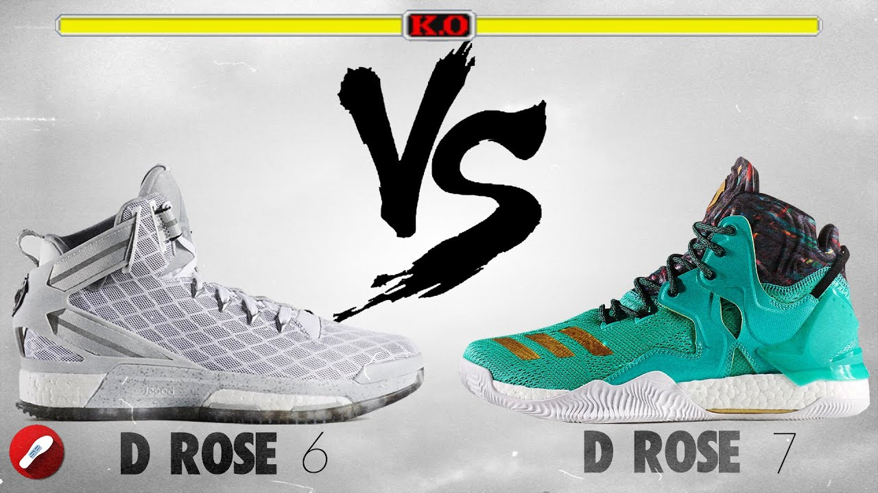 0a32d5e7951 Adidas D Rose 6 vs Adidas D Rose 7! - YouTube