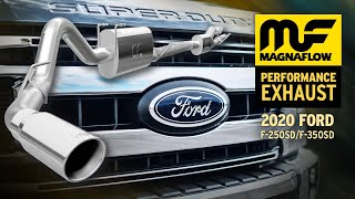 2020 ford f 250 f 350 super duty exhaust system sound magnaflow cat back exhaust 19530